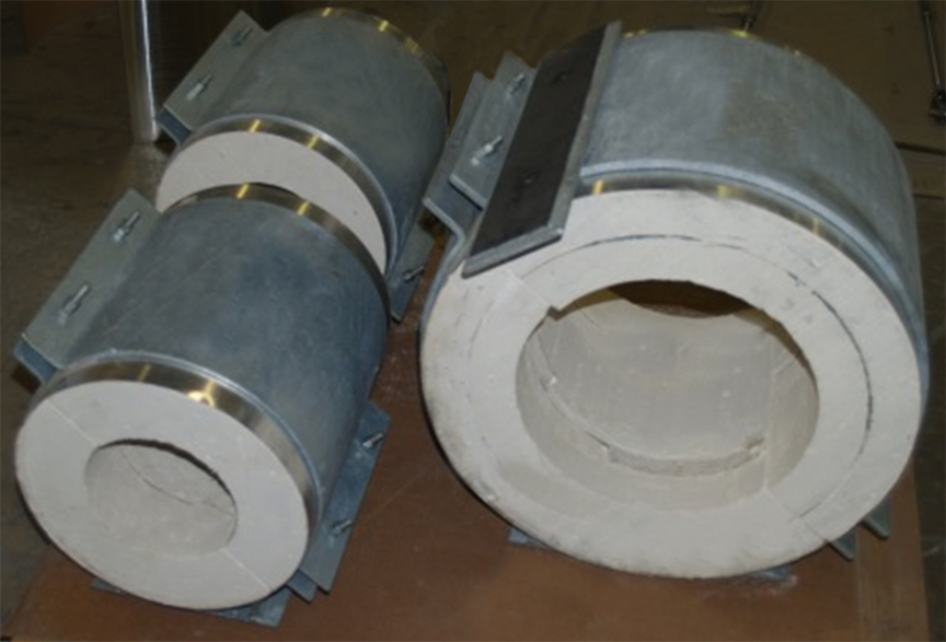 Calcium Silicate Pipe Insulation : Calcium silicate chilled water pipe supports rilco