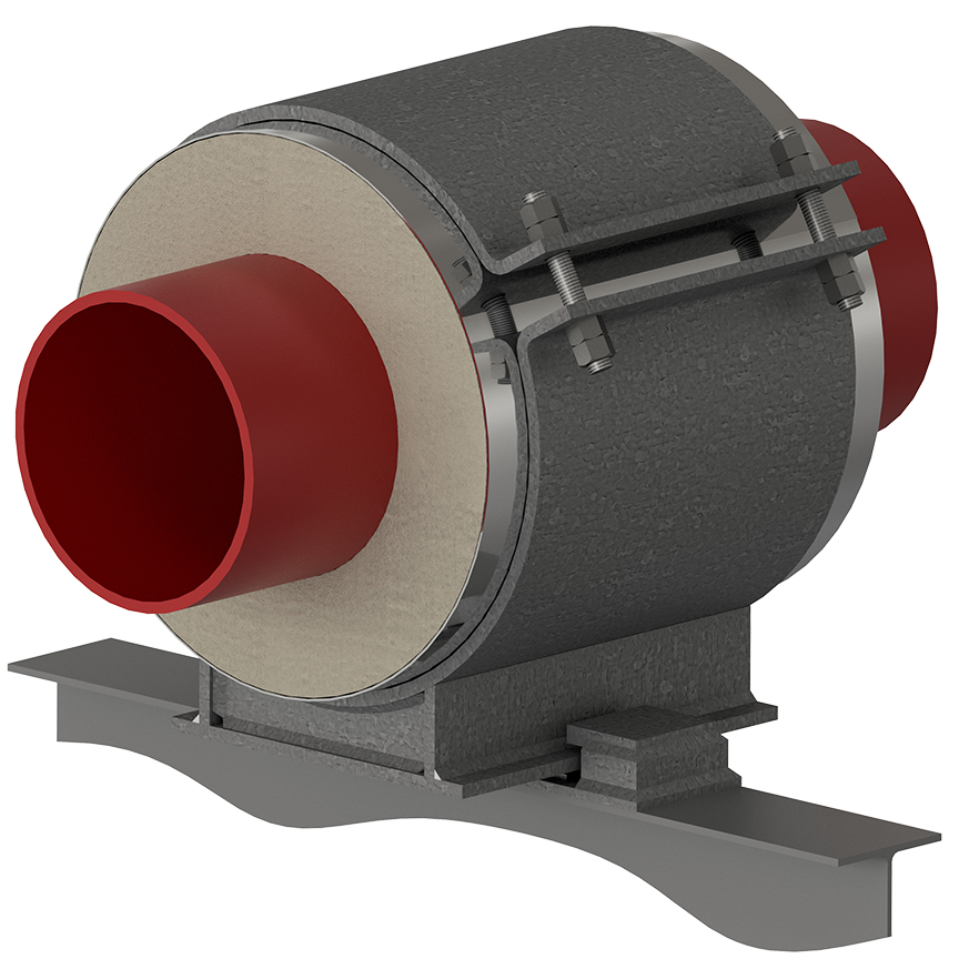 HG-4000 High Temperature Guided Pipe Support