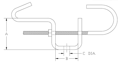 adjustable beam clamp drawing