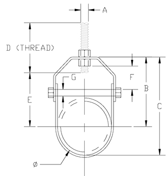 adjustable clevis hanger drawing