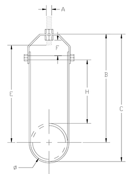 clevis hanger insulated drawing