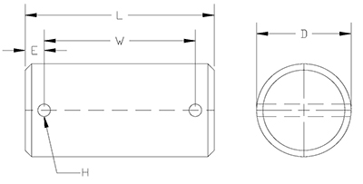 clevis pin with cotters drawing