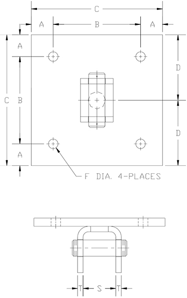 concrete pin lug drawing