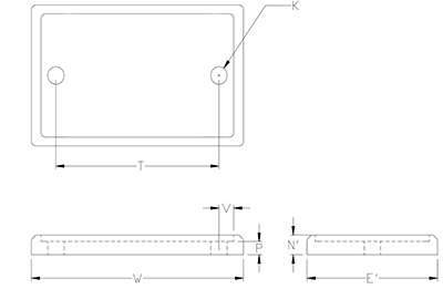 pipe roll base plate drawing
