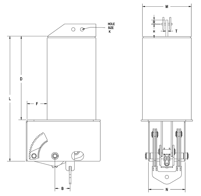 Part RCS-80V Type B Constant Spring Support
