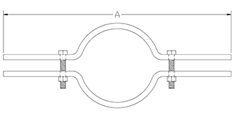 riser pipe clamp drawing