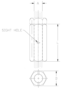 steel rod coupling drawing