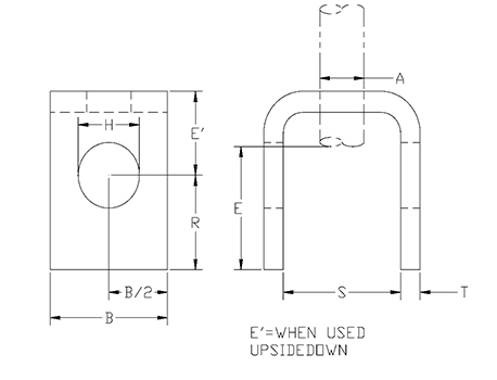 welded beam attachment drawing