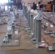 Steel Fabricated Pipe Guides with Hold-Down Supports