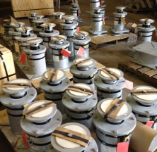 Variable Spring Supports Being Prepared for Shipping
