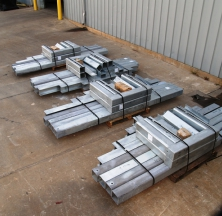 Steel Fabrication Being Prepared for Shipping