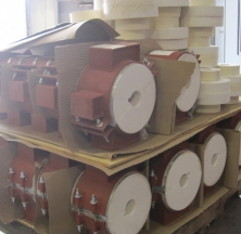 Small Diameter Calcium Silicate Hot Shoes Being Prepared for Shipping