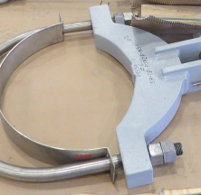Hanging Pipe Clamp Being Prepped for Shipping